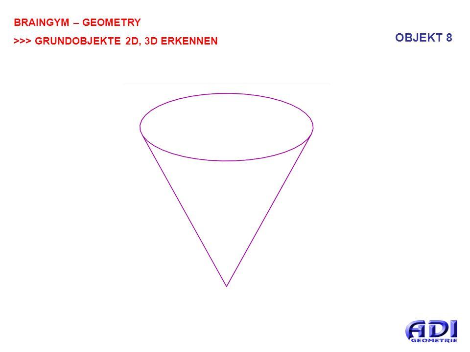 BRAINGYM – GEOMETRY >>> GRUNDOBJEKTE 2D, 3D ERKENNEN OBJEKT 8
