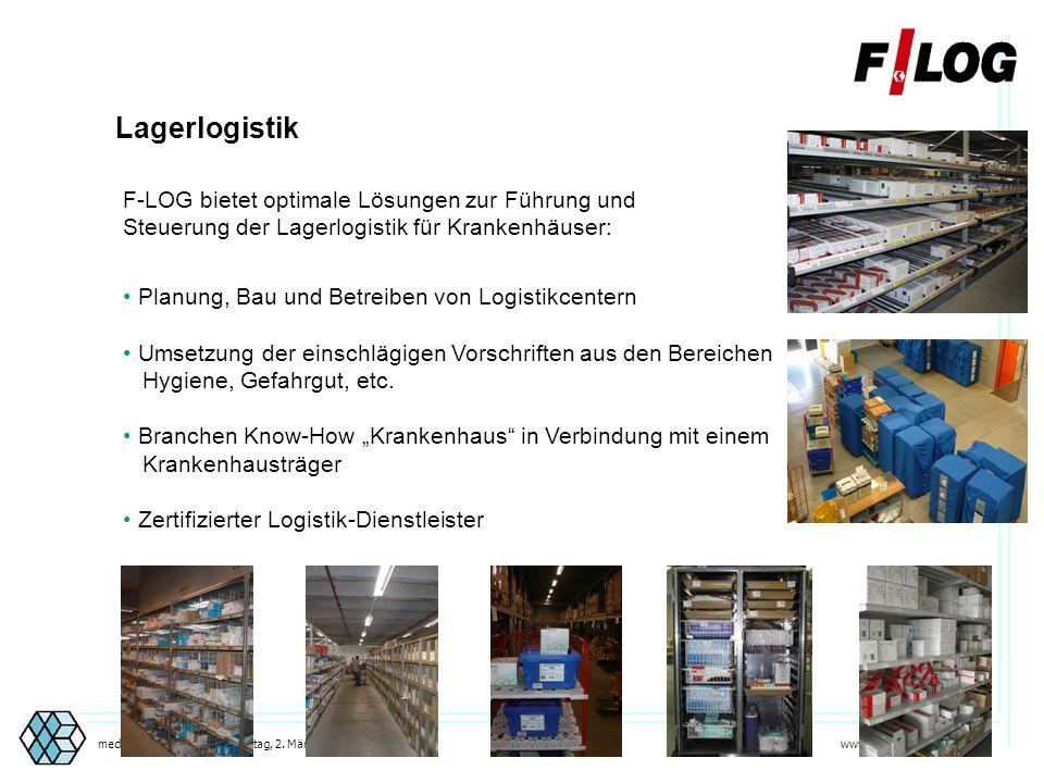 www.medicalorder.de 4medicalORDER®center, Sonntag, 2. März 2014 F-LOG AG Tochterunternehmen FIEGE Gruppe Logistikpartner und professioneller Dienstlei