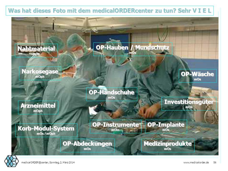 www.medicalorder.de 55medicalORDER®center, Sonntag, 2. März 2014 Zentralisierung von Warenlogistik Dezentralisierung von Produkt-Know-How
