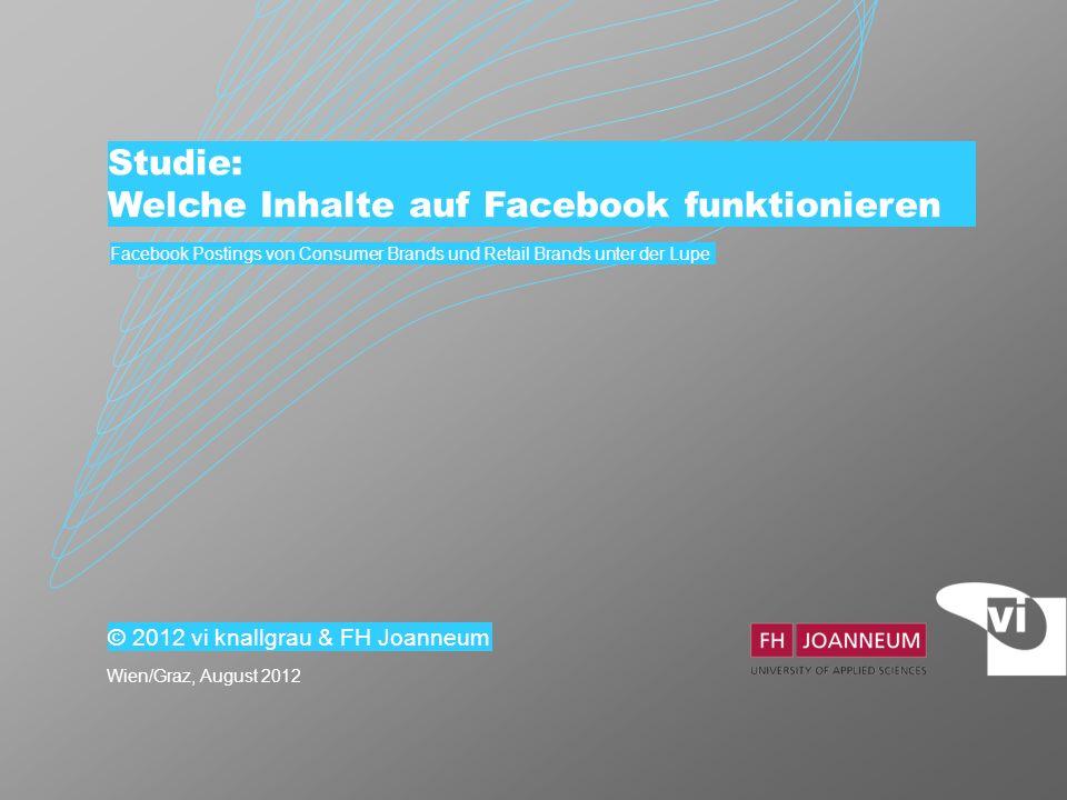 2 Forschungsfragen 1.Welche Inhalte funktionieren in Facebook.