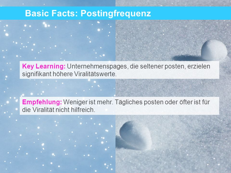 29 Key Learning: Einfach formulierte Postings erzielen einen signifikanten, 92% höheren Viralitätsfaktor.