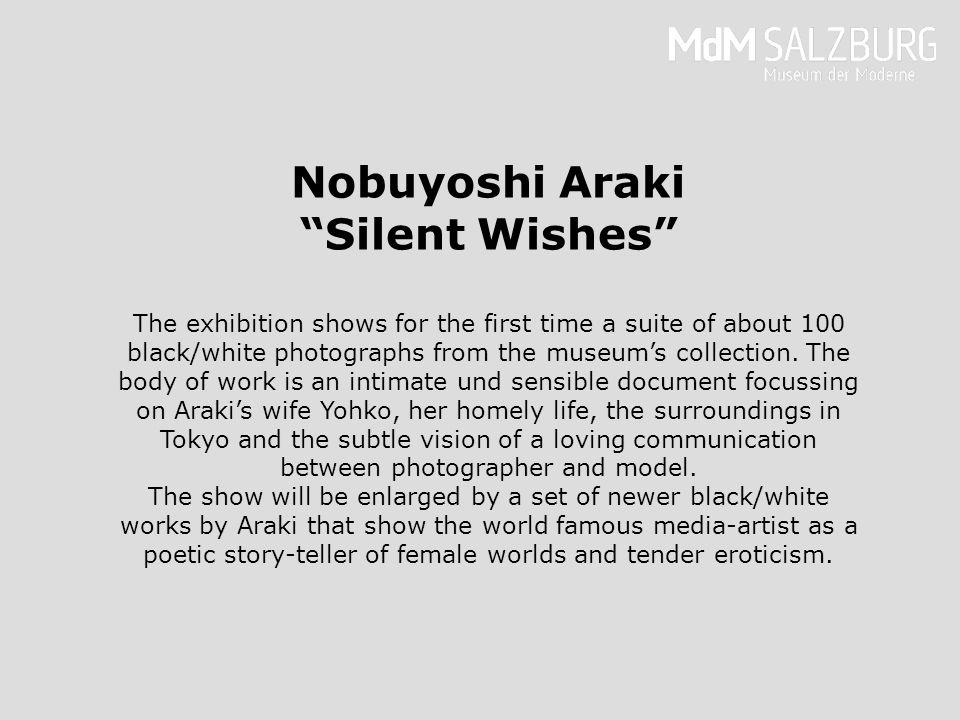 Nobuyoshi Araki ist einer der provokativsten Fotografen unserer Zeit; er foto- grafiert seit den späten 1960er Jahren täglich und obsessiv.