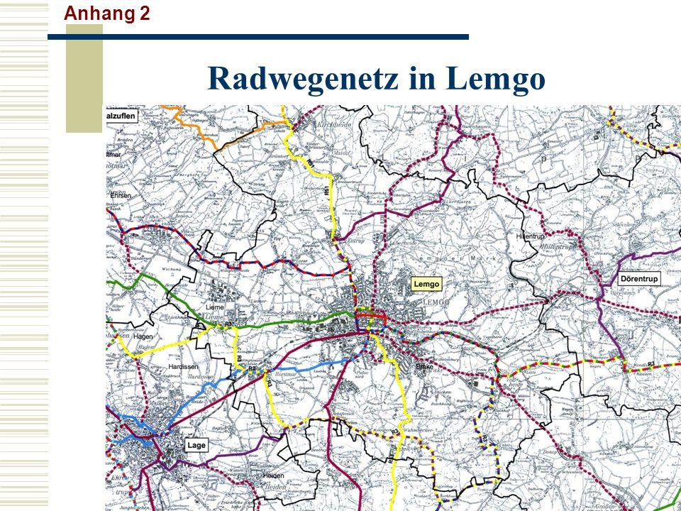 Radwegenetz in Lemgo Anhang 2