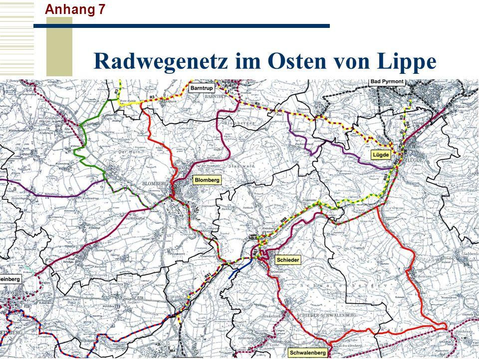 Radwegenetz im Osten von Lippe Anhang 7