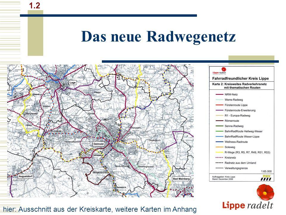 Große Touren und kleine Runden (1) 2.1 Bahn-Rad-Route Hellweg - Weser Weitere Info: www.BahnRadRouten.dewww.BahnRadRouten.de Über 275 km von Soest über Lippstadt und Gütersloh, Bielefeld, Leopoldshöhe, Lage, Lemgo, Barntrup, Blomberg, Lügde und Bad Pyrmont nach Hameln.