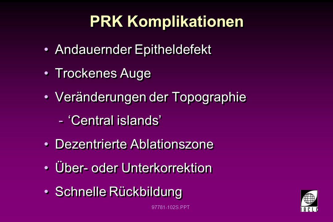 97781-103S.PPT Hornhauttopographie nach PRK