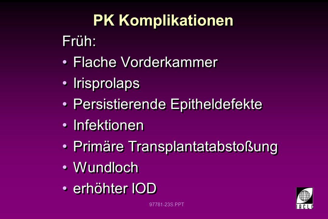 97781-24S.PPT Penetrierende Keratoplastik Abstoßung des Transplantates