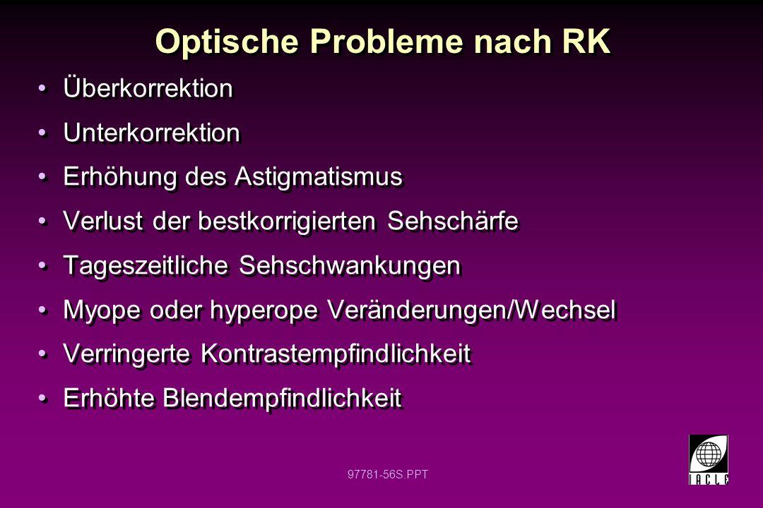 97781-57S.PPT Hornhauttopographie nach RK Inzisionen