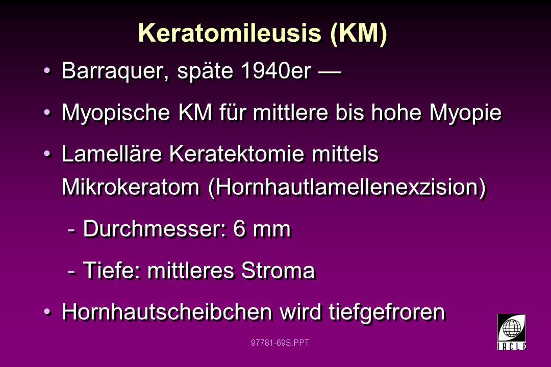 97781-70S.PPT Keratomileusis Trepan Cryolathe Veränd.