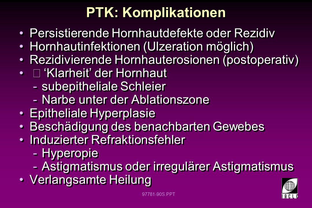 97781-91S.PPT Photo-Refraktive Keratektomie (PRK)