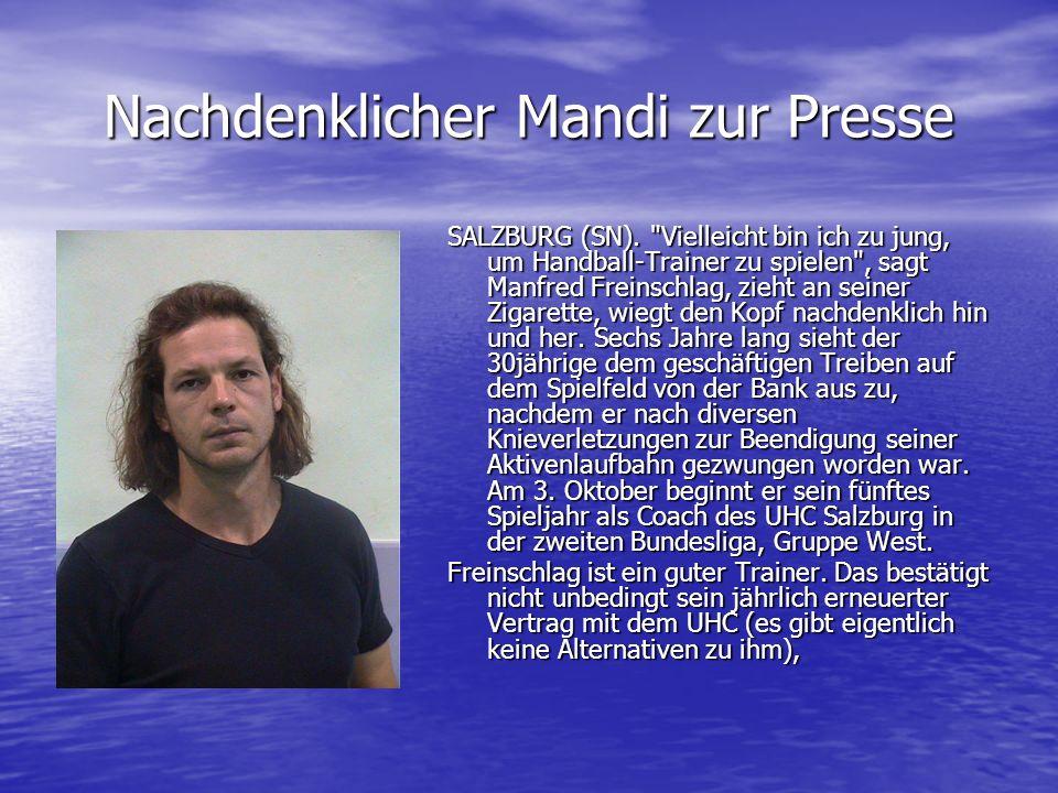 Nachdenklicher Mandi zur Presse SALZBURG (SN).