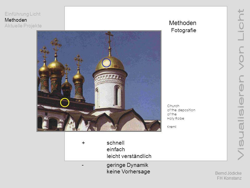 Methoden Fotografie +schnell einfach leicht verständlich -geringe Dynamik keine Vorhersage Church of the deposition of the Holy Robe Kreml Einführung