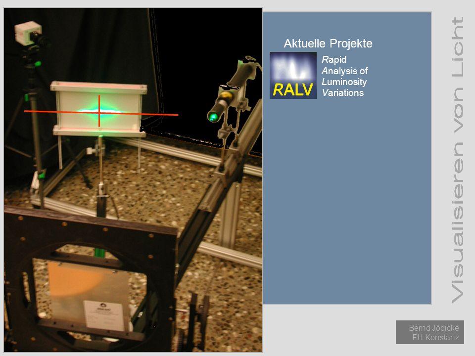 Einführung Licht Methoden Aktuelle Projekte Bernd Jödicke FH Konstanz Aktuelle Projekte Rapid Analysis of Luminosity Variations