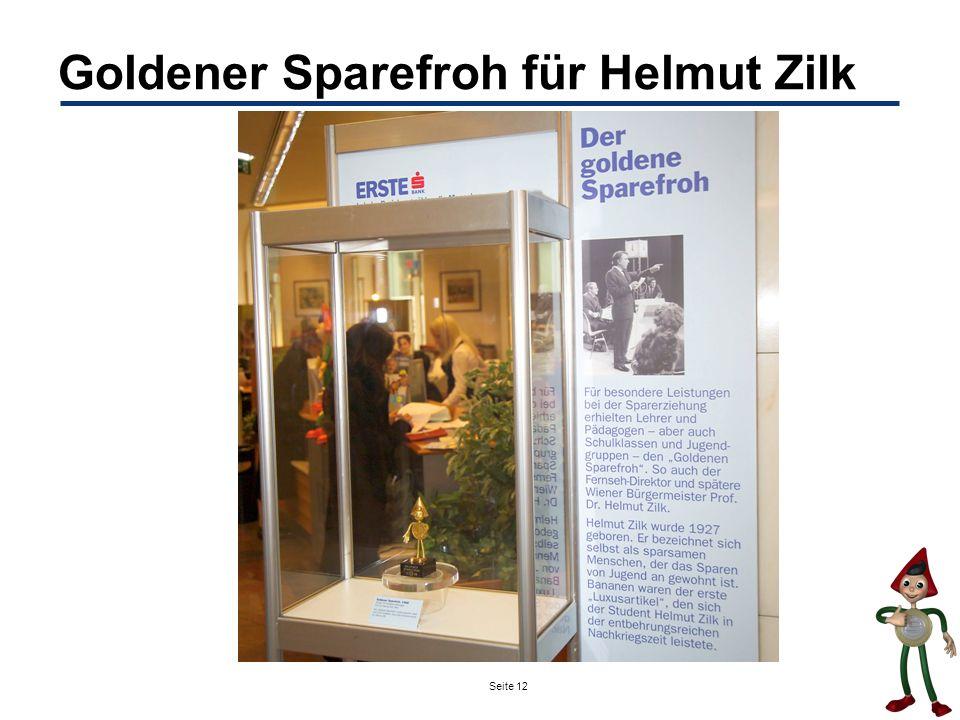 Seite 12 Goldener Sparefroh für Helmut Zilk