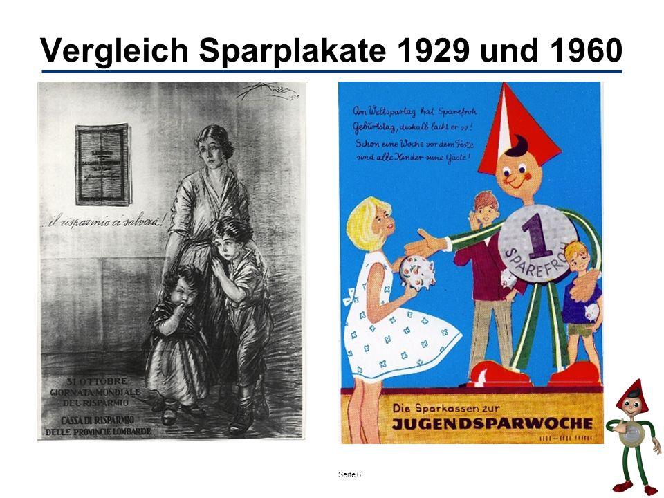 Seite 6 Vergleich Sparplakate 1929 und 1960