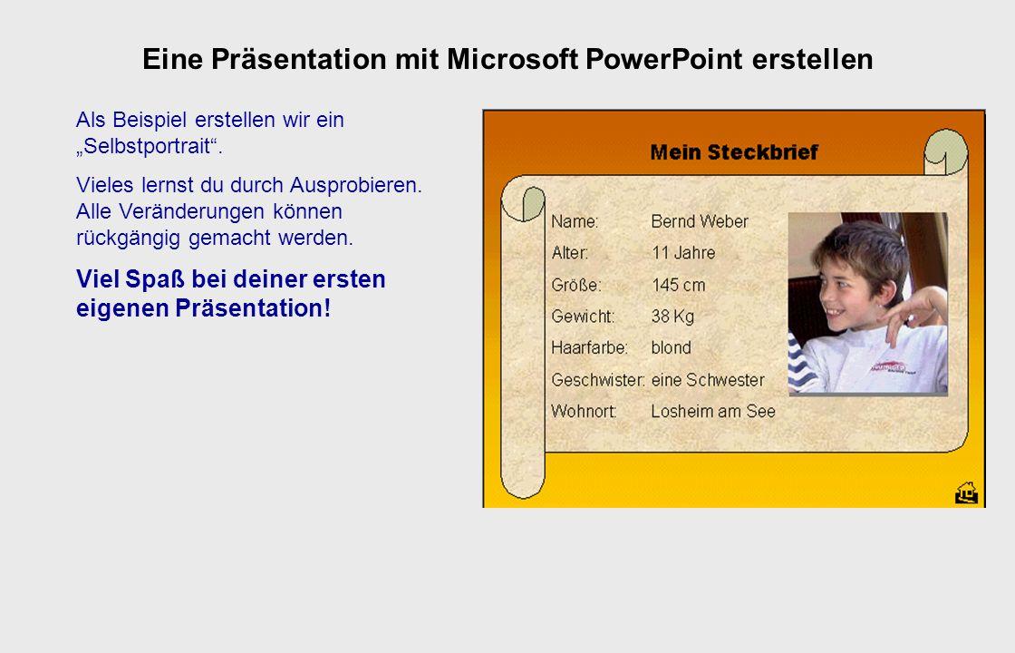 Du kannst zwischen dieser Präsentation und deiner eigenen wechseln, indem du die jeweilige Präsentation in der Taskleiste anklickst! Tipps zur Bedienu
