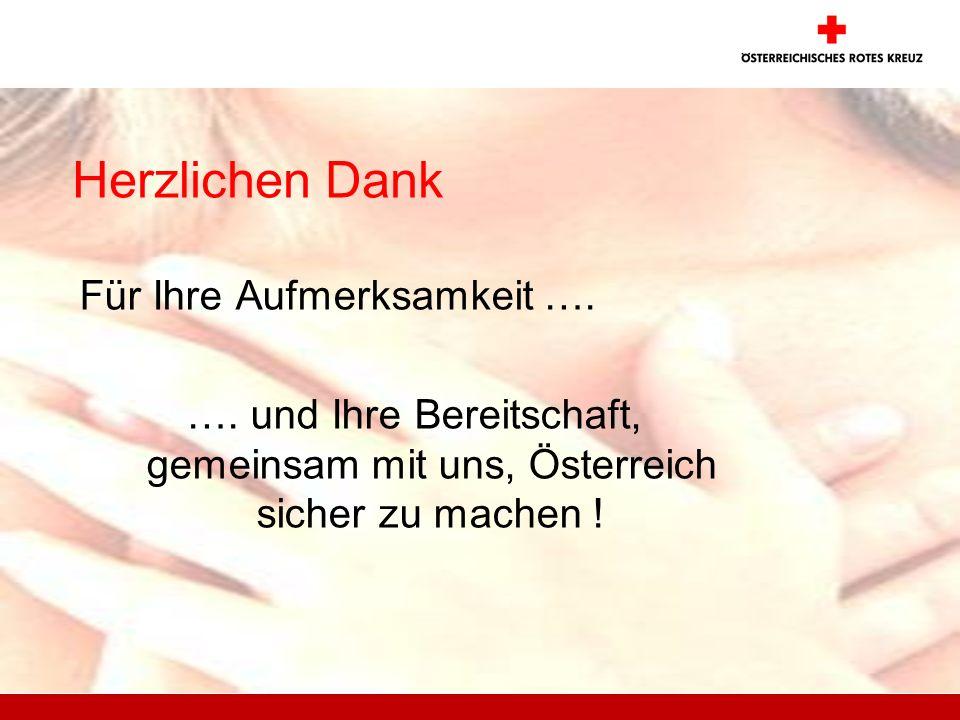 Herzlichen Dank Für Ihre Aufmerksamkeit …. …. und Ihre Bereitschaft, gemeinsam mit uns, Österreich sicher zu machen !