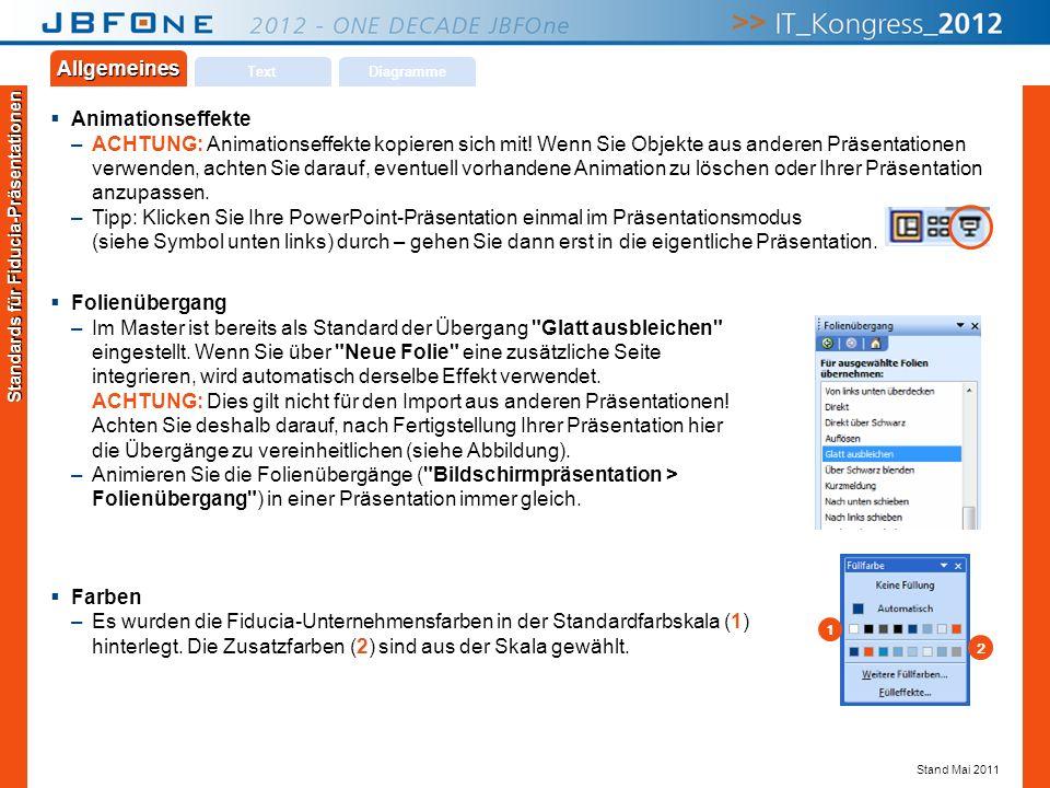 Titel der Präsentation | JBFOne 2012 | Seite 18 Copyright © JBFOne 2012 Animationseffekte –ACHTUNG: Animationseffekte kopieren sich mit! Wenn Sie Obje