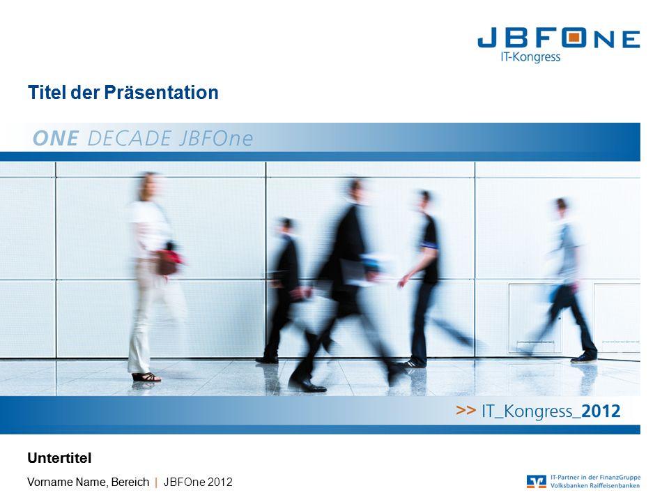 Titel der Präsentation | JBFOne 2012 | Seite 13 Copyright © JBFOne 2012 Liniendiagramm Untertitel [Einheit] Quelle: Fiducia IT AG