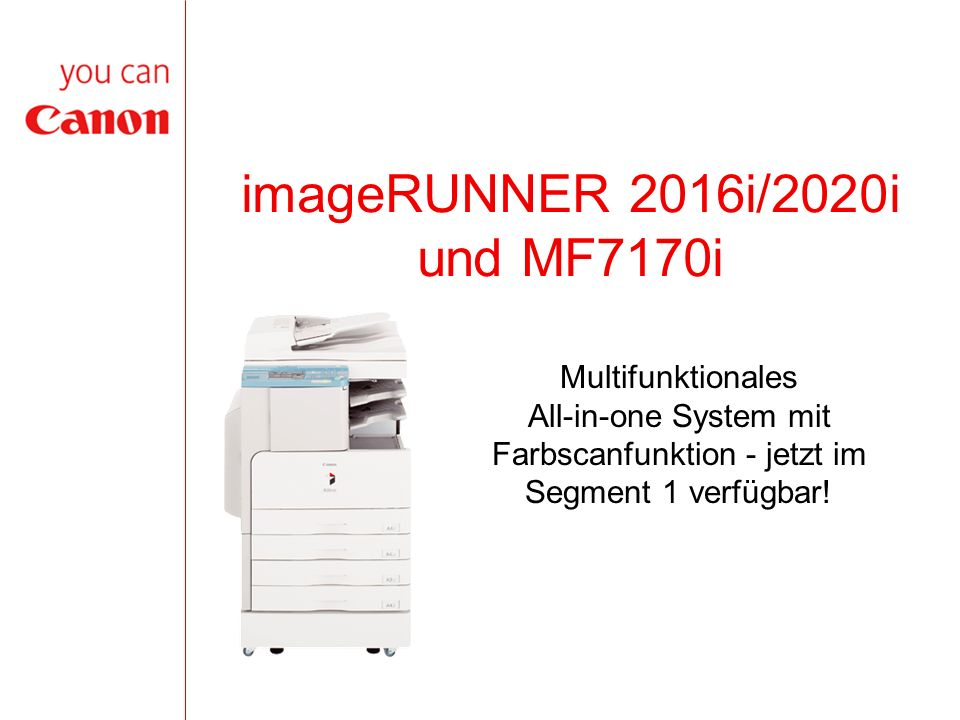 12 iR2016i/2020i/MF7170i vs.