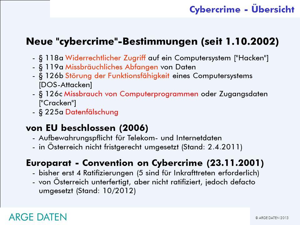 © ARGE DATEN 2013 ARGE DATEN Neue