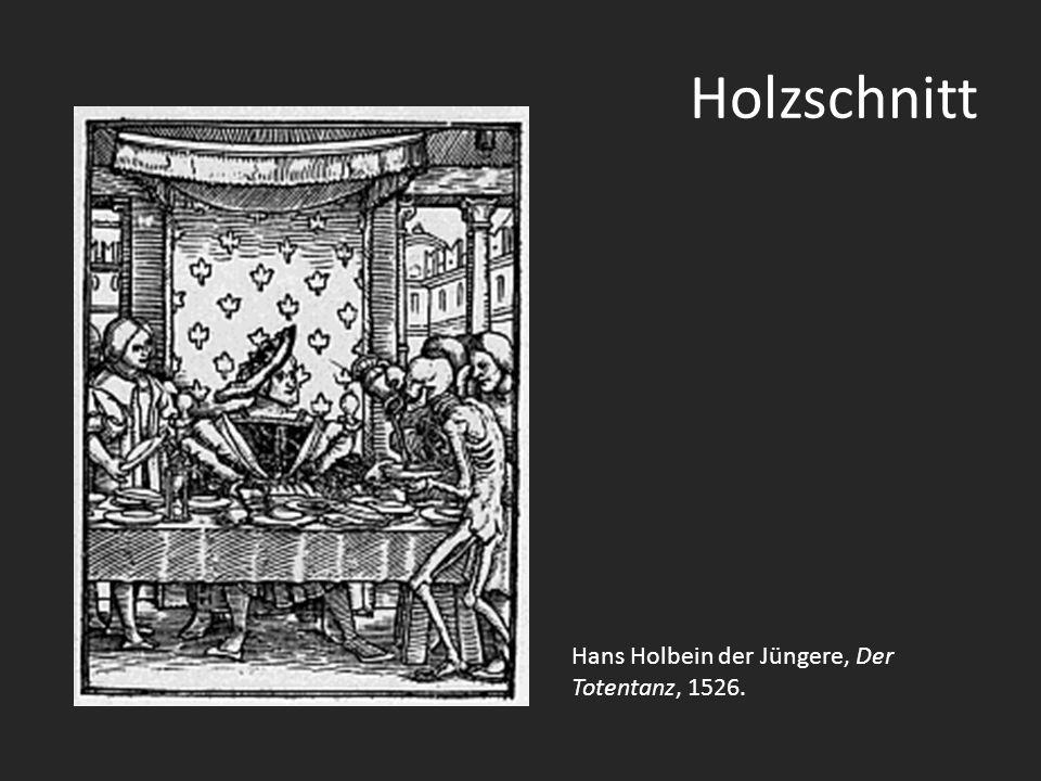 Holzschnitt Hans Holbein der Jüngere, Der Totentanz, 1526.