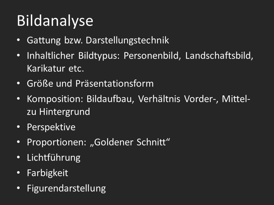 Bildanalyse Gattung bzw.