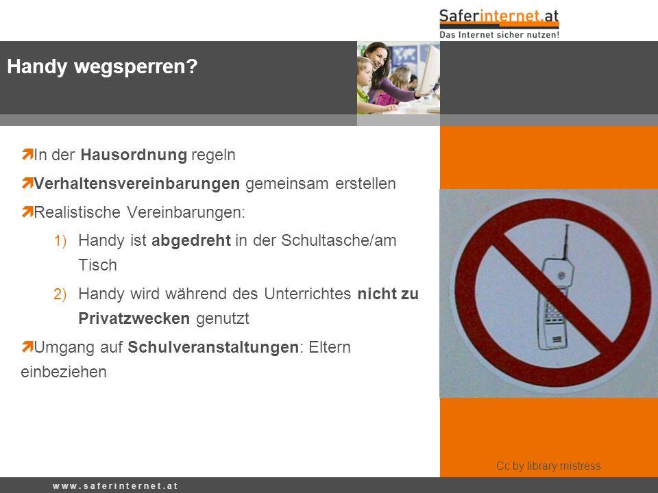In der Hausordnung regeln Verhaltensvereinbarungen gemeinsam erstellen Realistische Vereinbarungen: 1) Handy ist abgedreht in der Schultasche/am Tisch