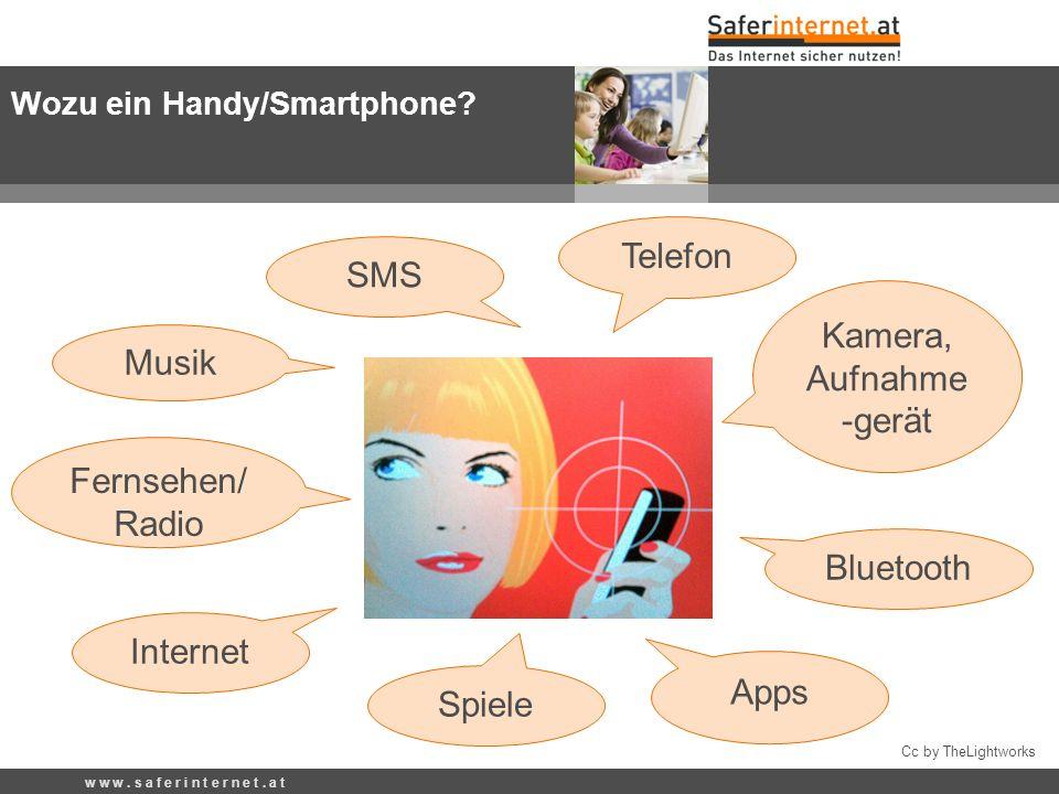 Cc by TheLightworks Telefon Internet Kamera, Aufnahme -gerät SMS Bluetooth Spiele Musik Fernsehen/ Radio Apps Wozu ein Handy/Smartphone? w w w. s a f