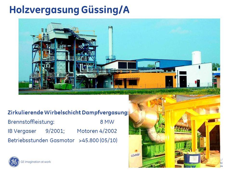 16 / GE Jenbacher /Teki Suajibi March 2, 2014 Holzvergasung Güssing/A Zirkulierende Wirbelschicht Dampfvergasung: Brennstoffleistung: 8 MW IB Vergaser