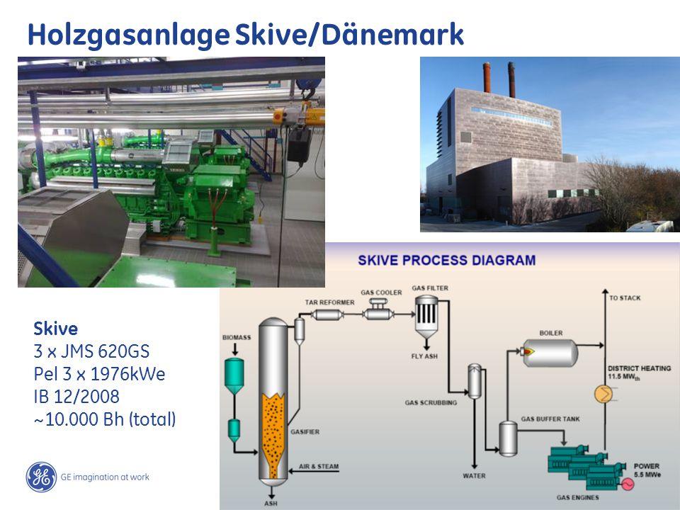 17 / GE Jenbacher /Teki Suajibi March 2, 2014 Holzgasanlage Skive/Dänemark Skive 3 x JMS 620GS Pel 3 x 1976kWe IB 12/2008 ~10.000 Bh (total)