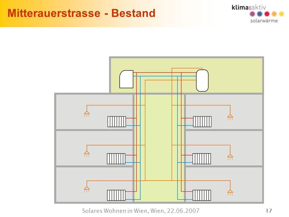 17 Solares Wohnen in Wien, Wien, 22.06.2007 Mitterauerstrasse - Bestand