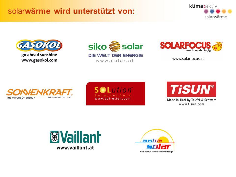 29 Solares Wohnen in Wien, Wien, 22.06.2007 solarwärme wird unterstützt von: