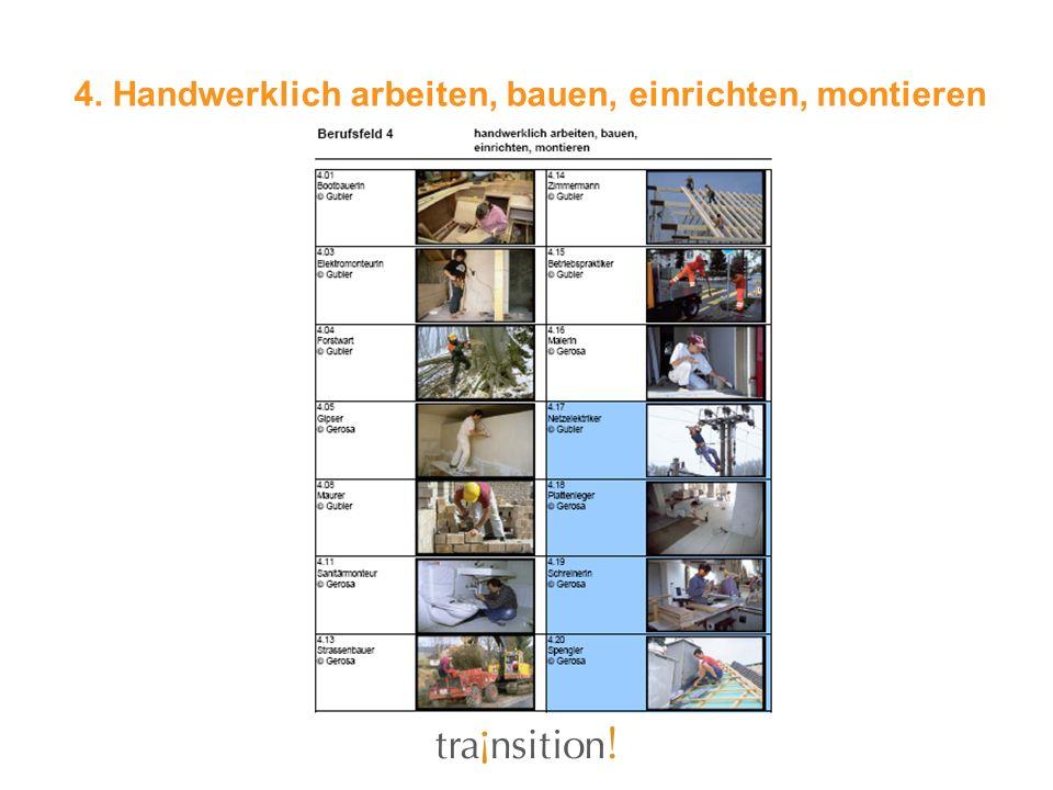4. Handwerklich arbeiten, bauen, einrichten, montieren