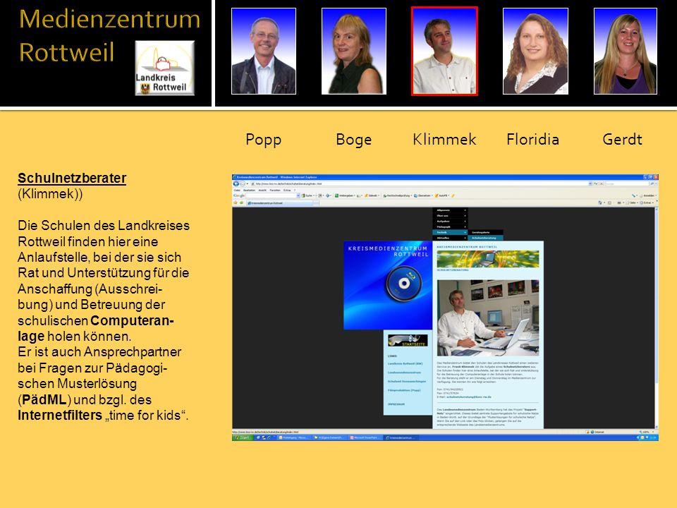 Medienberaterin (Floridia / Gerdt) Unsere beiden Medienbera- terinnen führen den Verleih der Medien und Geräte durch.