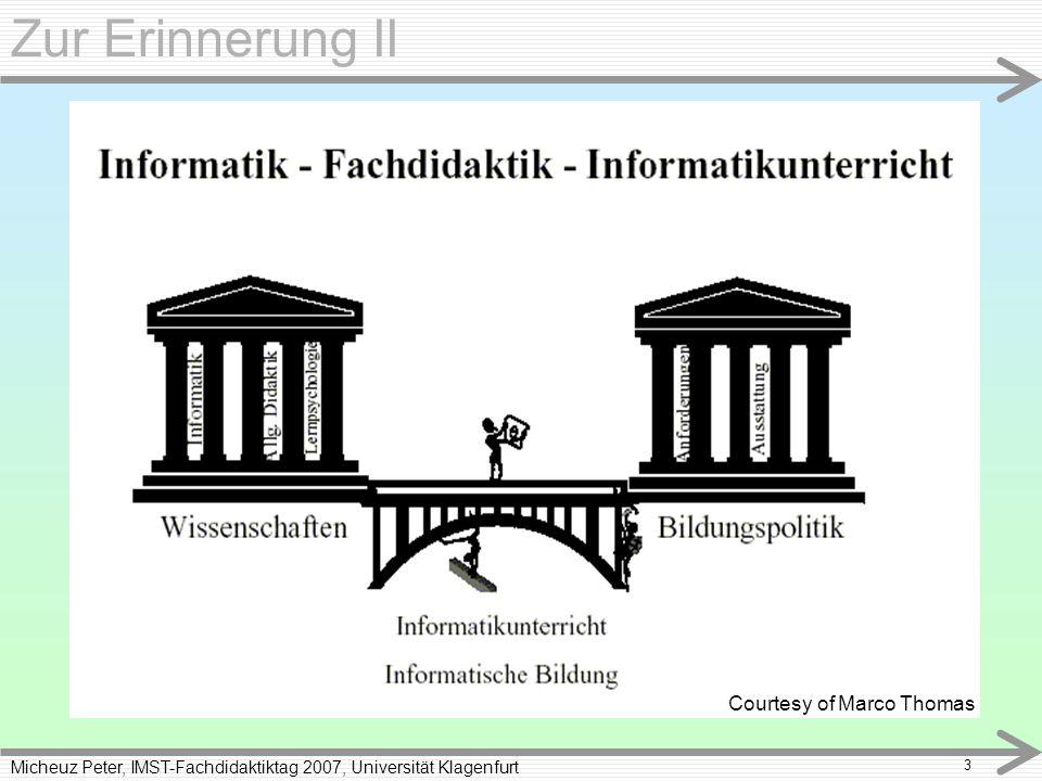 Micheuz Peter, IMST-Fachdidaktiktag 2007, Universität Klagenfurt 4 Brennpunkte Technik entwickelt sich immer vom Primitiven über das Komplizierte zum Einfachen (St.