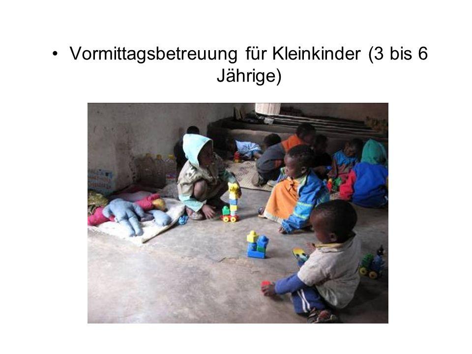 Vormittagsbetreuung für Kleinkinder (3 bis 6 Jährige)