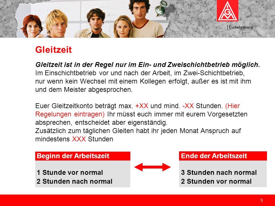 Ludwigsburg 16 Wie in der Ausbildung ist natürlich auch im richtigen Berufsleben deine Gewerkschaft für dich da: die IG Metall.
