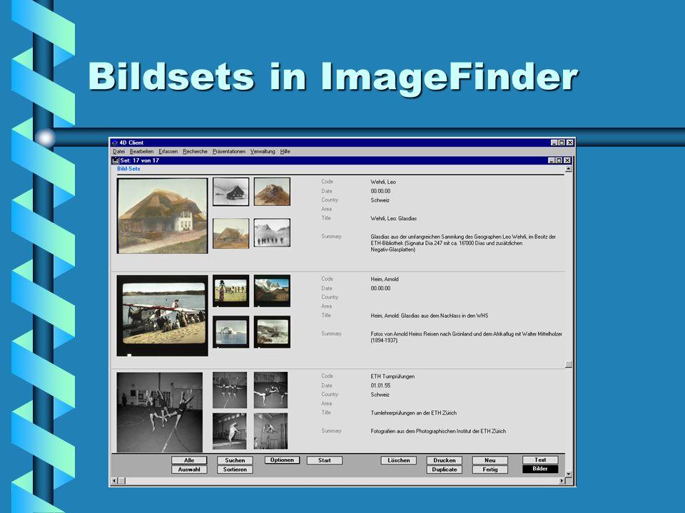 Bildsets in ImageFinder