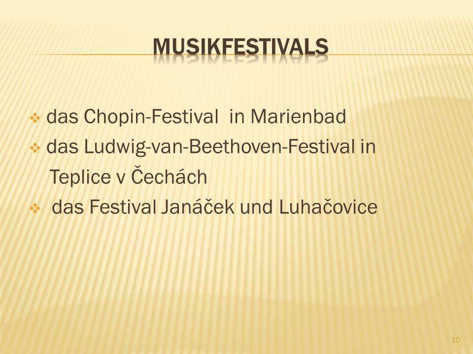 Kolonnadenkonzerte und Vorstellungen Filmfestivals Musikfestivals Museen, Galerien Ausflüge 9