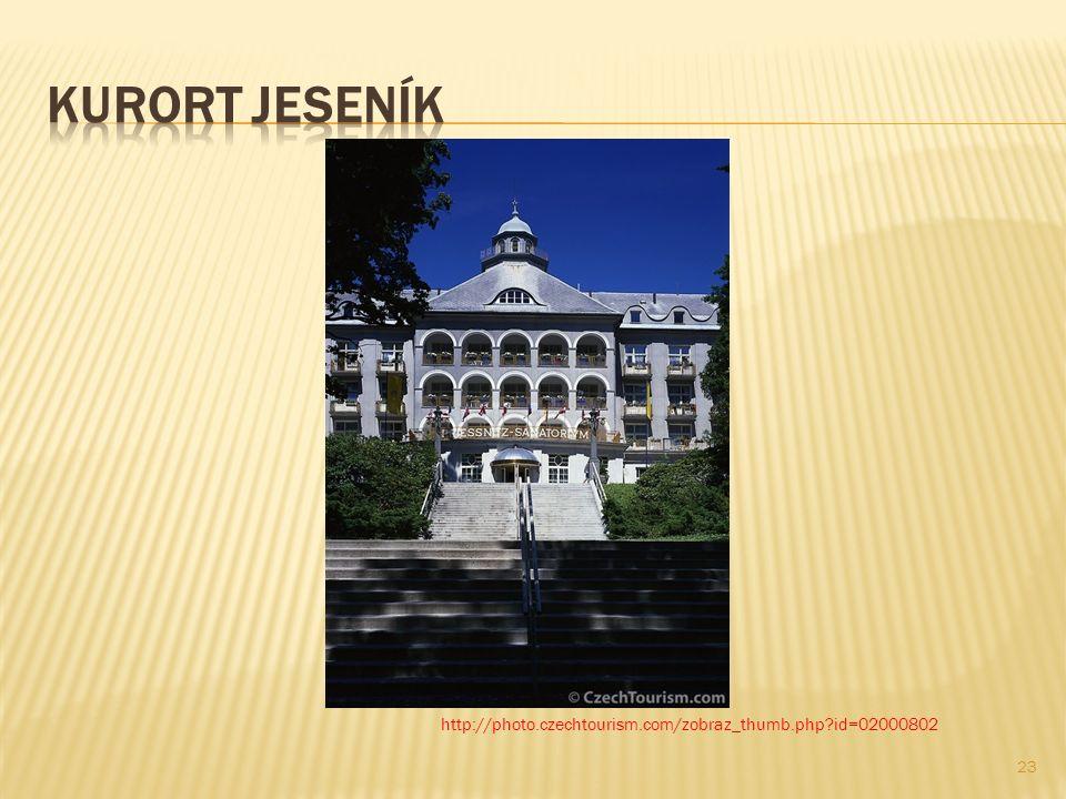 Gegründet wurde der Kurort Jeseník (Gräfenberg) im Jahre 1820 von Vinzenz Prießnitz, einem Naturheilkundigen, der die heilenden Wirkungen des dortigen kalten Quellwassers erkannt hatte.
