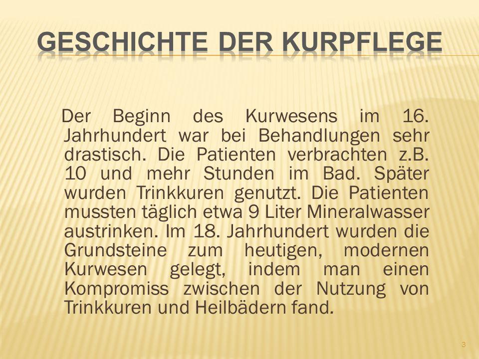 Der Beginn des Kurwesens im 16.Jahrhundert war bei Behandlungen sehr drastisch.