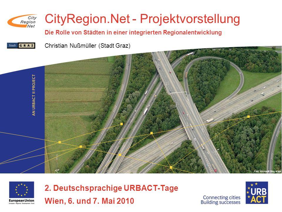CityRegion.Net - Projektvorstellung Die Rolle von Städten in einer integrierten Regionalentwicklung Christian Nußmüller (Stadt Graz) 2.