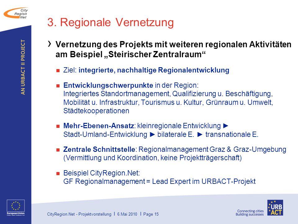 CityRegion.Net - Projektvorstellung I 6.Mai 2010 I Page 15 3.
