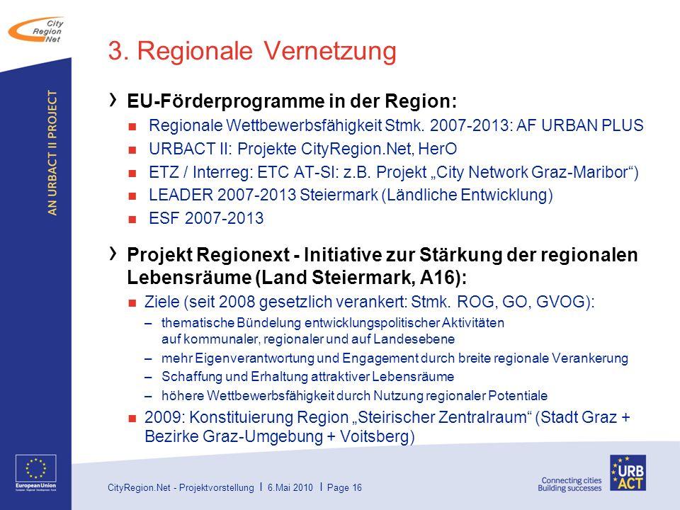 CityRegion.Net - Projektvorstellung I 6.Mai 2010 I Page 16 3.
