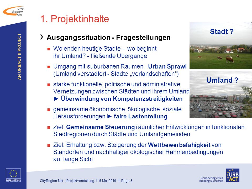 CityRegion.Net - Projektvorstellung I 6.Mai 2010 I Page 14 Inhalt 1.