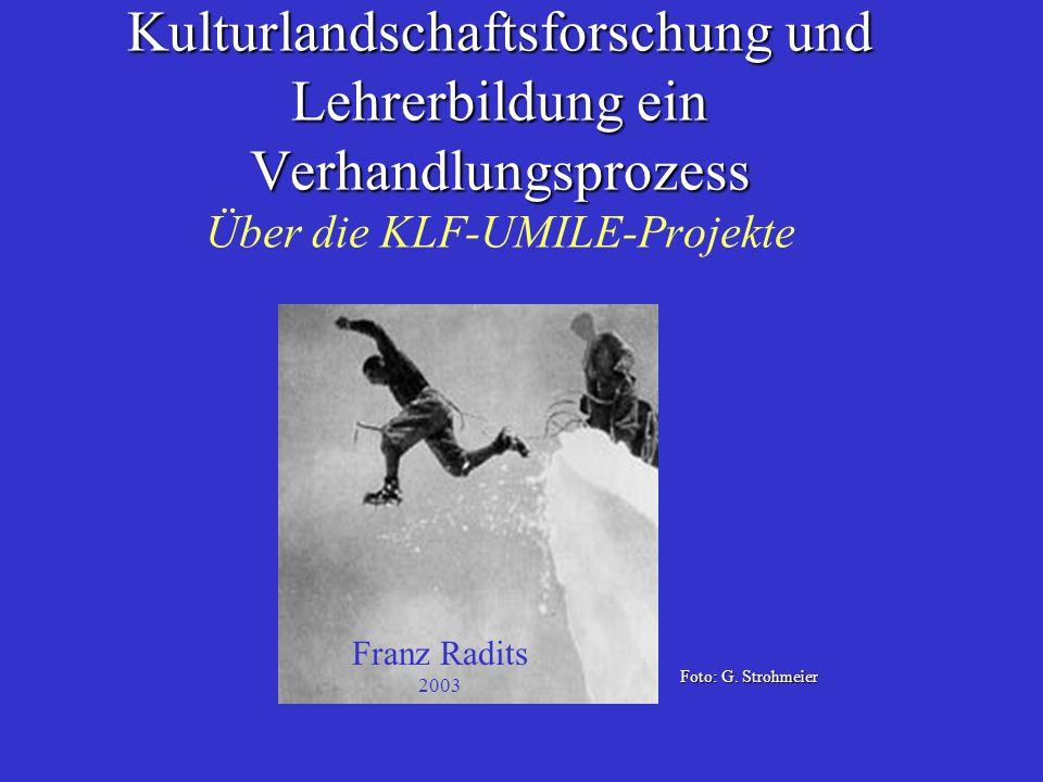 Lernen erfolgt interdisziplinär.....Drei unterschiedliche Lösungsmodelle: –UNI-Klagenfurt,....
