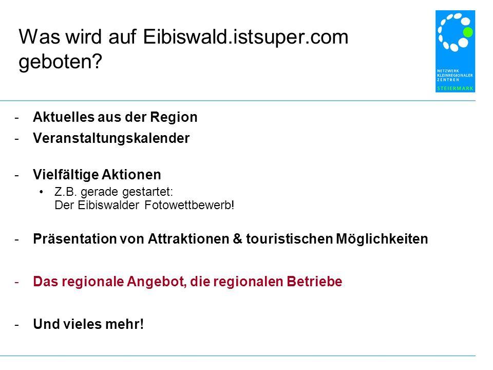 Was wird auf Eibiswald.istsuper.com geboten.