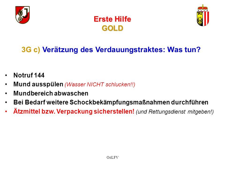 Erste Hilfe GOLD Notruf 144 Feste Substanzen wegwischen (z.B.