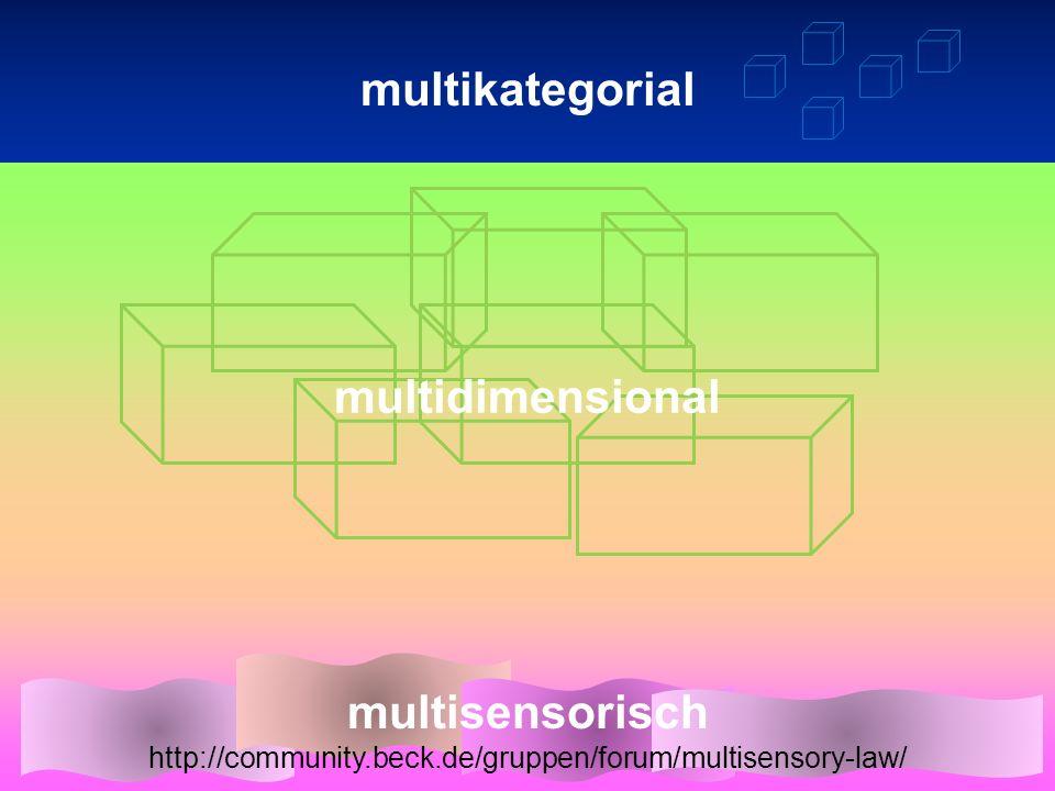 KategorienThesaurus, Ontologienneues Konzept Verankerung / Resonanz in der neurobiologische Basis ante rem in re post rem Artefakte, Maschinendiverse Entitäten 1D2D 3D nD multisensorisch http://community.beck.de/gruppen/forum/multisensory-law/ multikategorial multidimensional